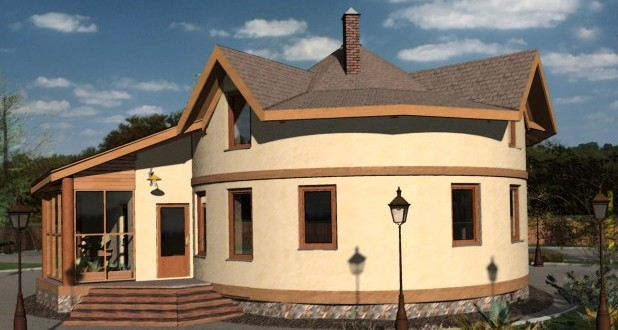 Дом из соломы Украина